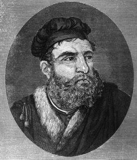 Engraving of Marco Polo