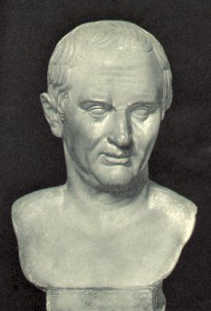 Cicero at 60. Marble bust of Cicero.