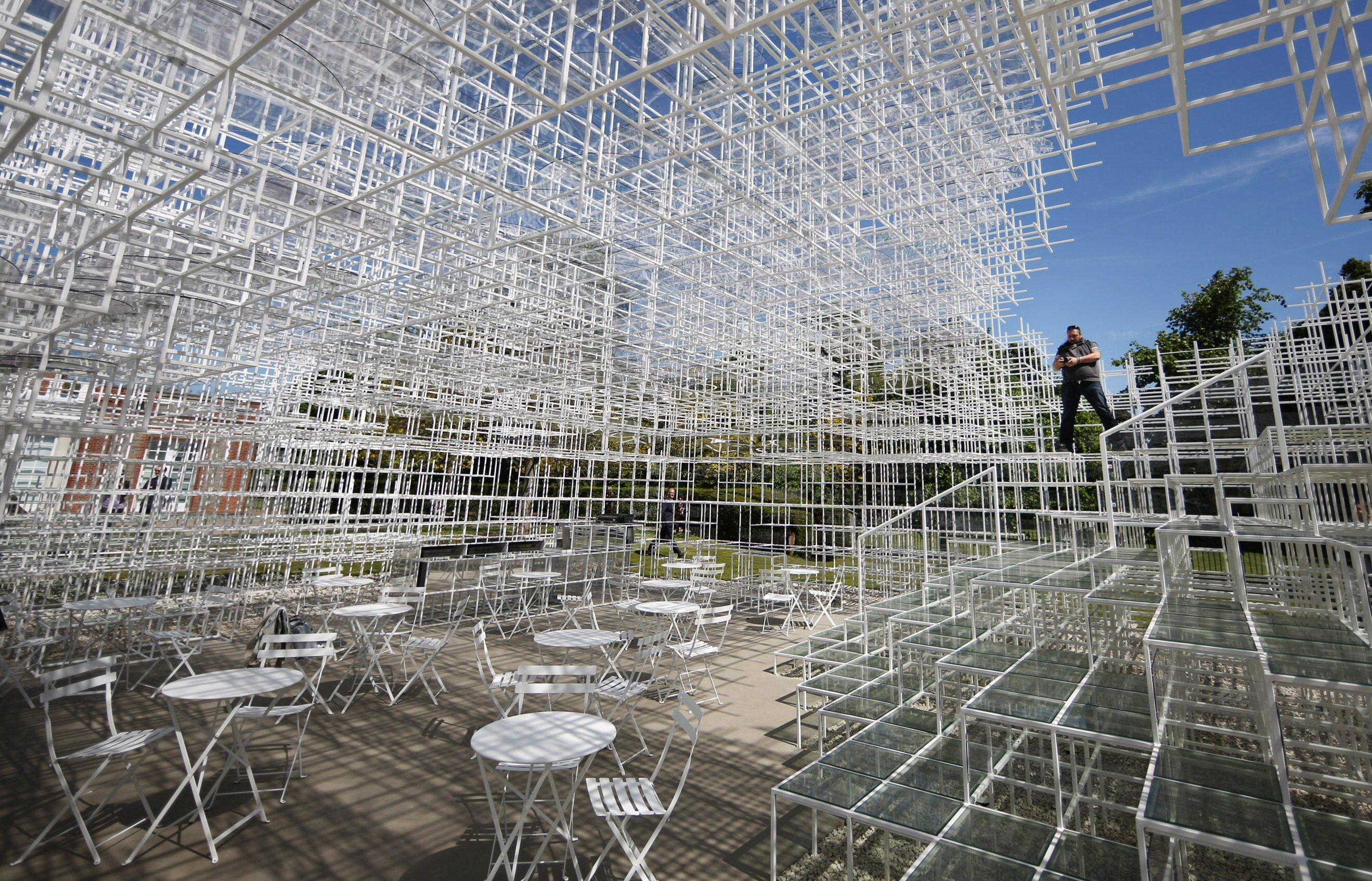 The Serpentine Gallery Pavilion Designed by Japanese architect Sou Fujimoto, 2013, London