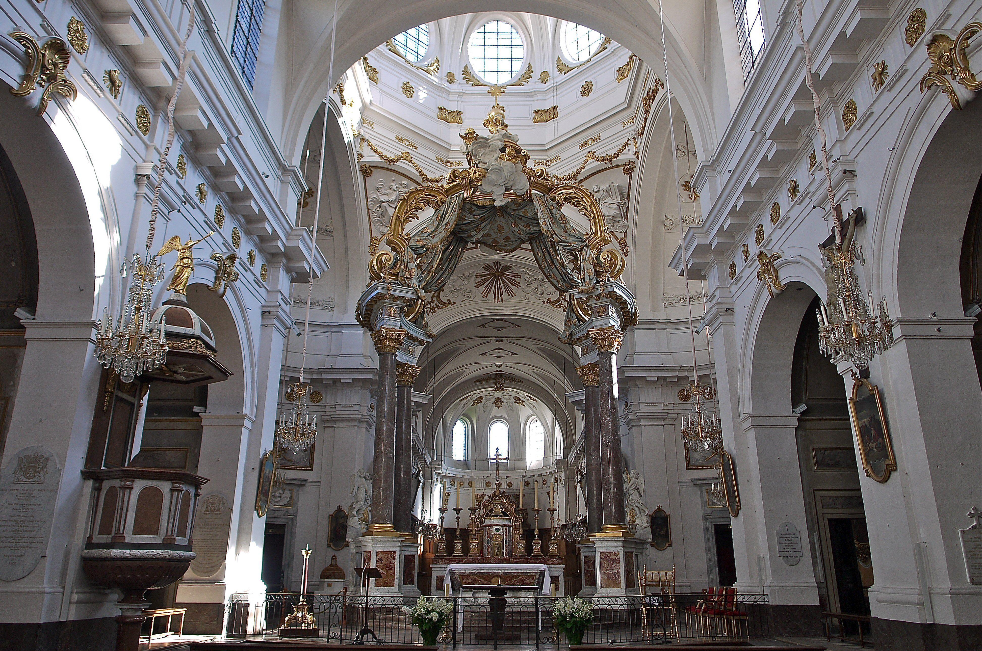 Baroque interior of Saint-Bruno Des Chartreux Church In Lyon, France