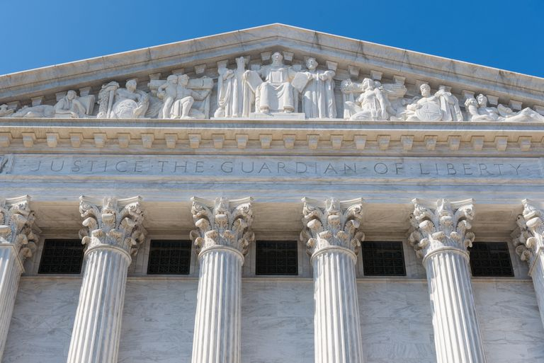 Exterior of United States Supreme Court building.