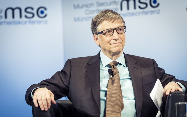 Bill Gates appearing at a media event.