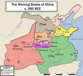 Warring States of China Map