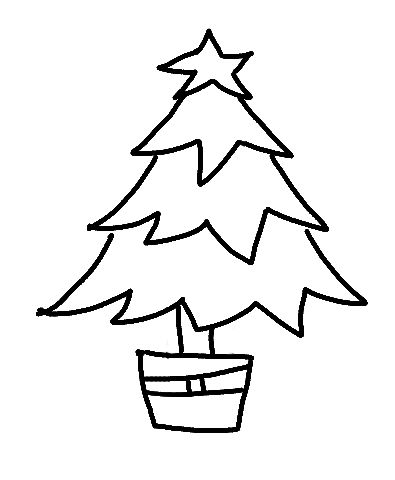 Draw A Christmas Tree Step By