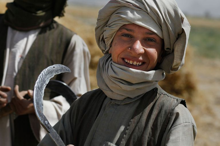 A Pashtun boy in Afghanistan's Kandahar Province, 2010.