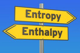 Enthalpy change is related to the entropy of a system.