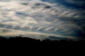 Kelvin-Helmholtz instability clouds
