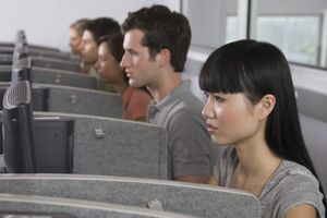 College students in computer lab