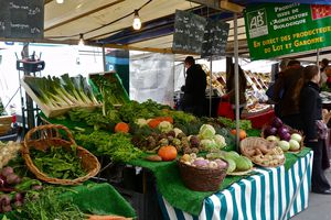The organic farmer's market in Paris' Batignolles district.