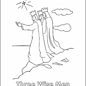christmas coloring page three wise men