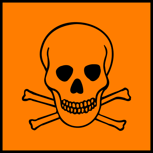 Lab safety symbol, hazardous materials