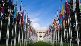 The United Nations Building in Geneva