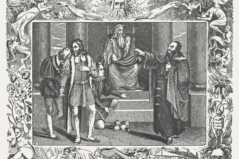 "An 1838 engraving of ""Merchant of Venice"""