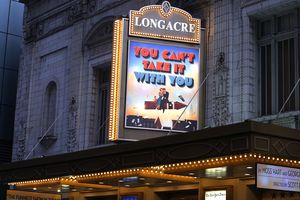 'You Can't Take It With You' on theater marquee