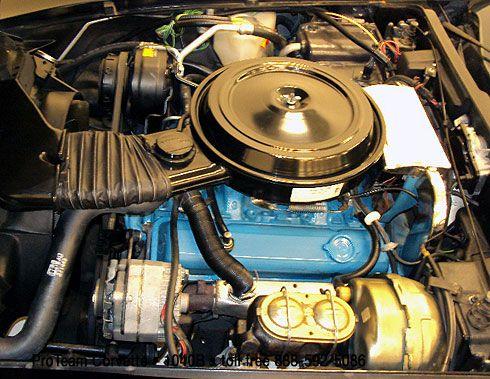 Restored Corvette Engine Bay