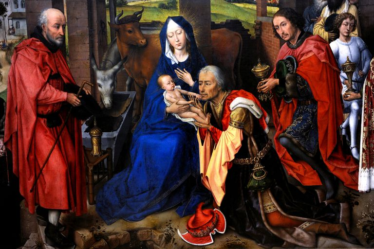 van der Weyden's medieval painting of the Adoration of Christ
