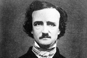 An 1840s daguerreotype of macabre and gothic poet, writer, author, and critic Edgar Allan Poe