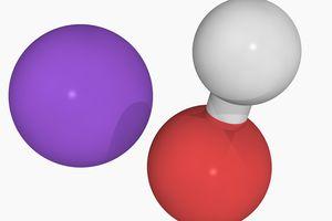 3D illustration of sodium hydroxide.
