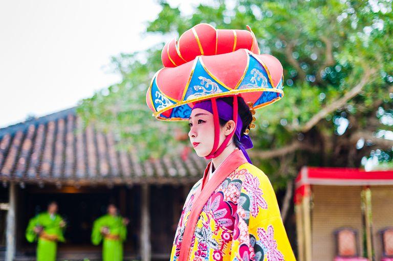 Ryukyu lady in a hat