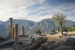 Ancient Ruins at Delphi, Greece