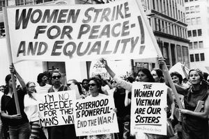 Women Strike for Peace at the Women's Strike for Equality Demonstration in New York, 1970