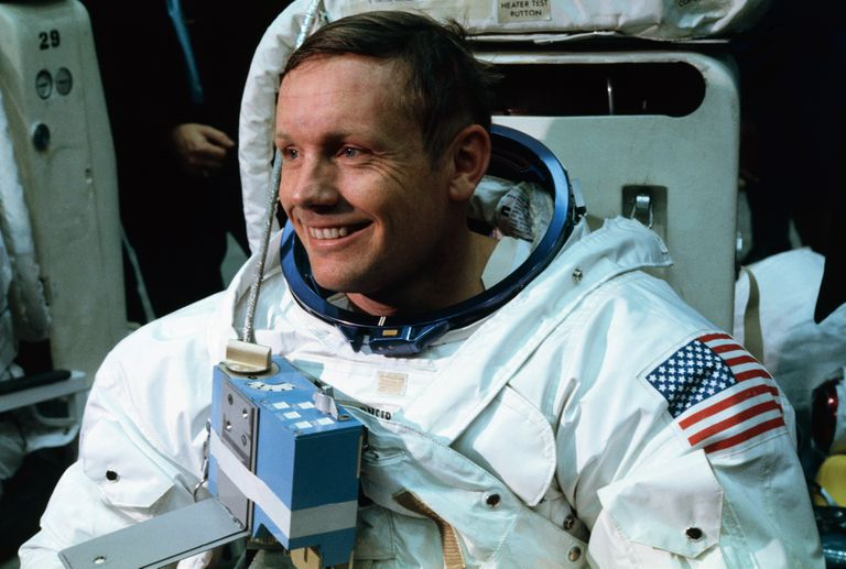 Neil Armstrong training for the Apollo 11 mission
