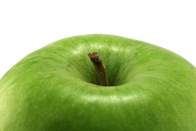 Green apple close up