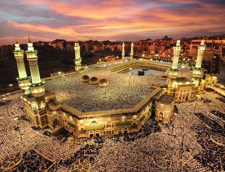 An aerial view of Mecca, Saudi Arabia.