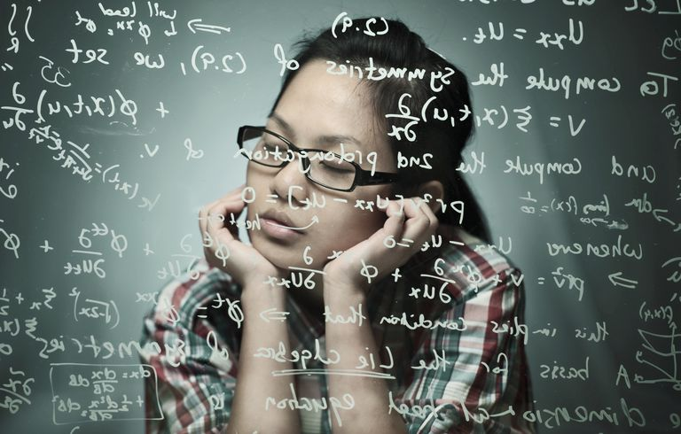 girl thinking about math