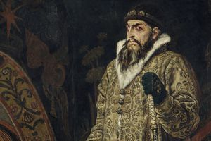 Portrait of Ivan the Terrible in royal regalia