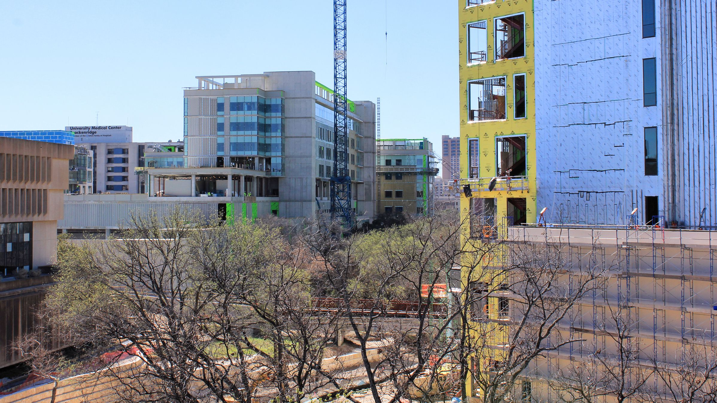 Construction on the Dell Seton Medical Campus in 2016
