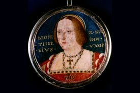 Catherine of Aragon, by artist Lucas Horenbout