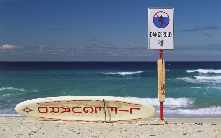 riptide warning beach
