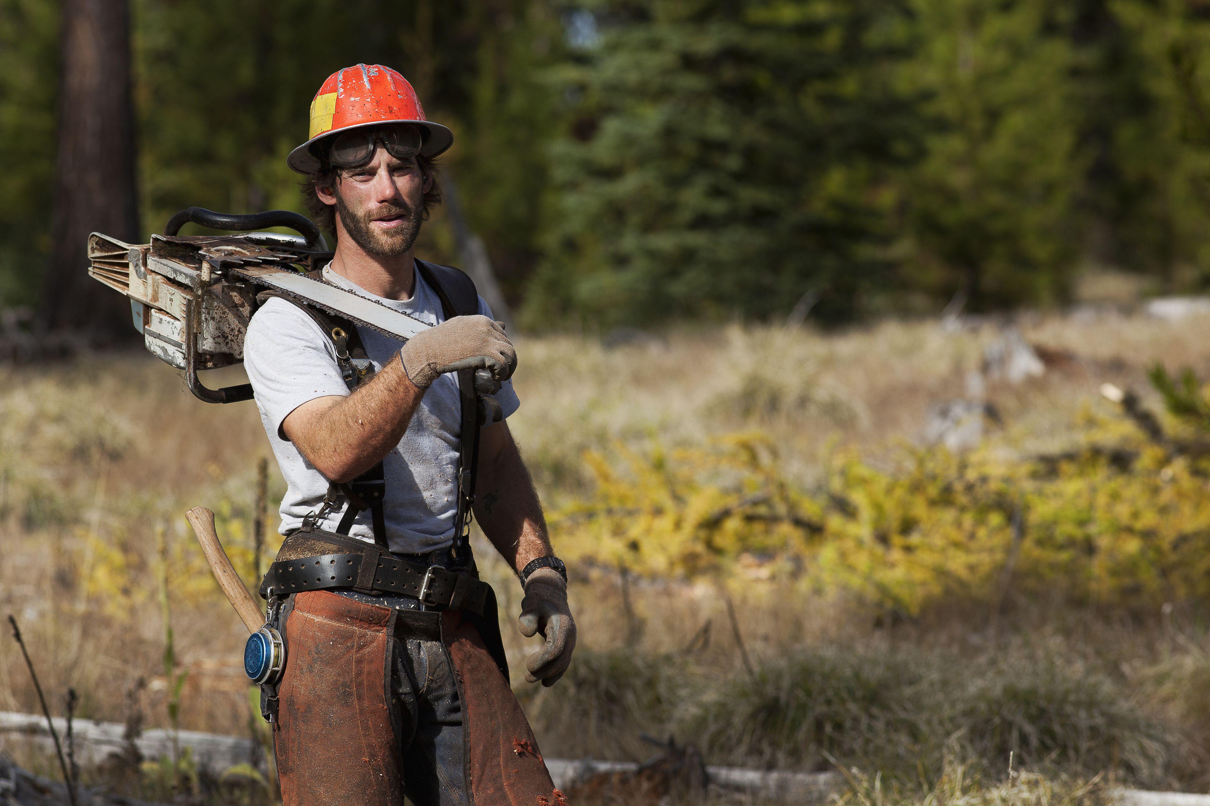 lumberjack in Montana