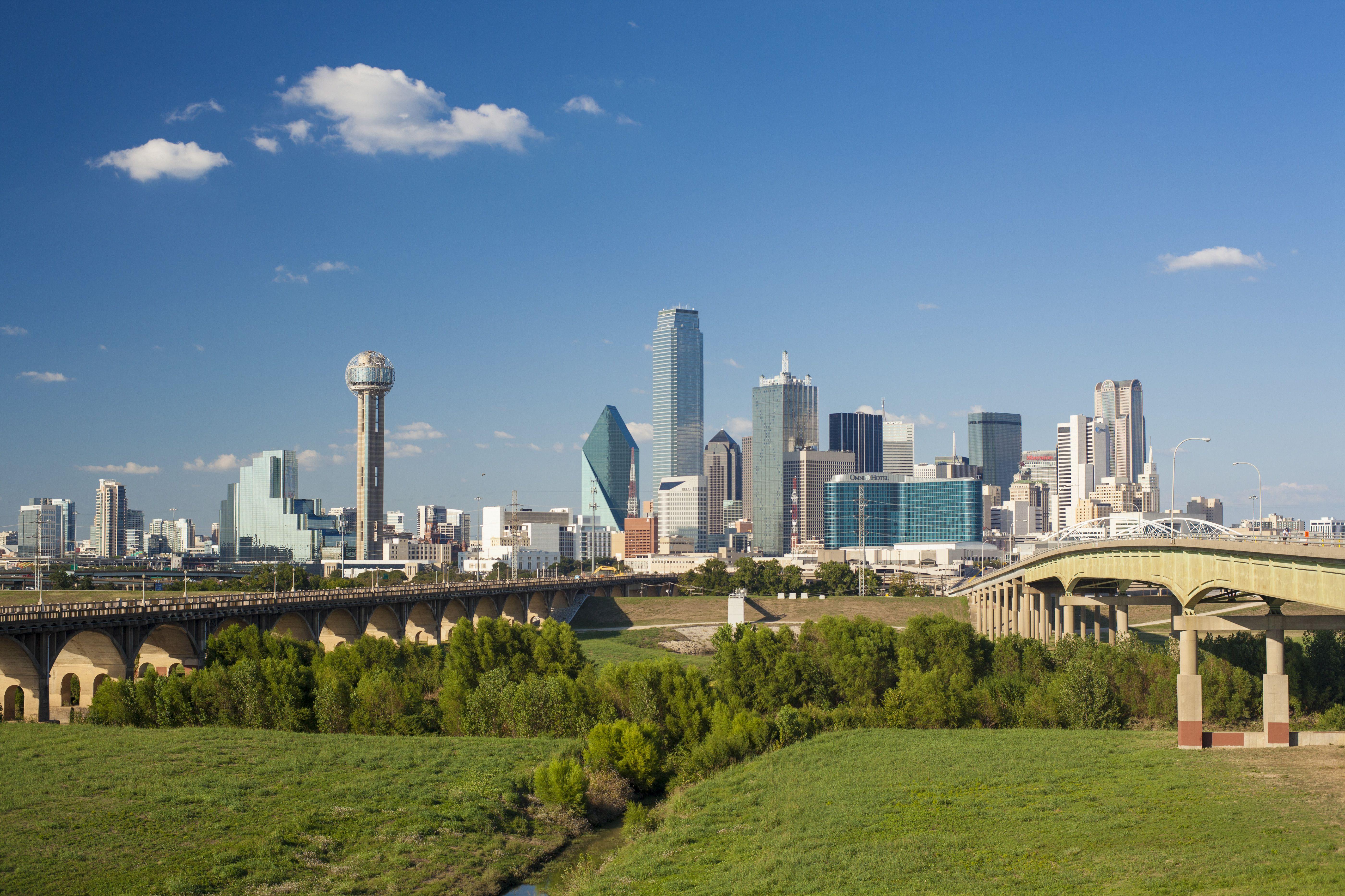 USA, Texas, Dallas, City skyline on sunny day