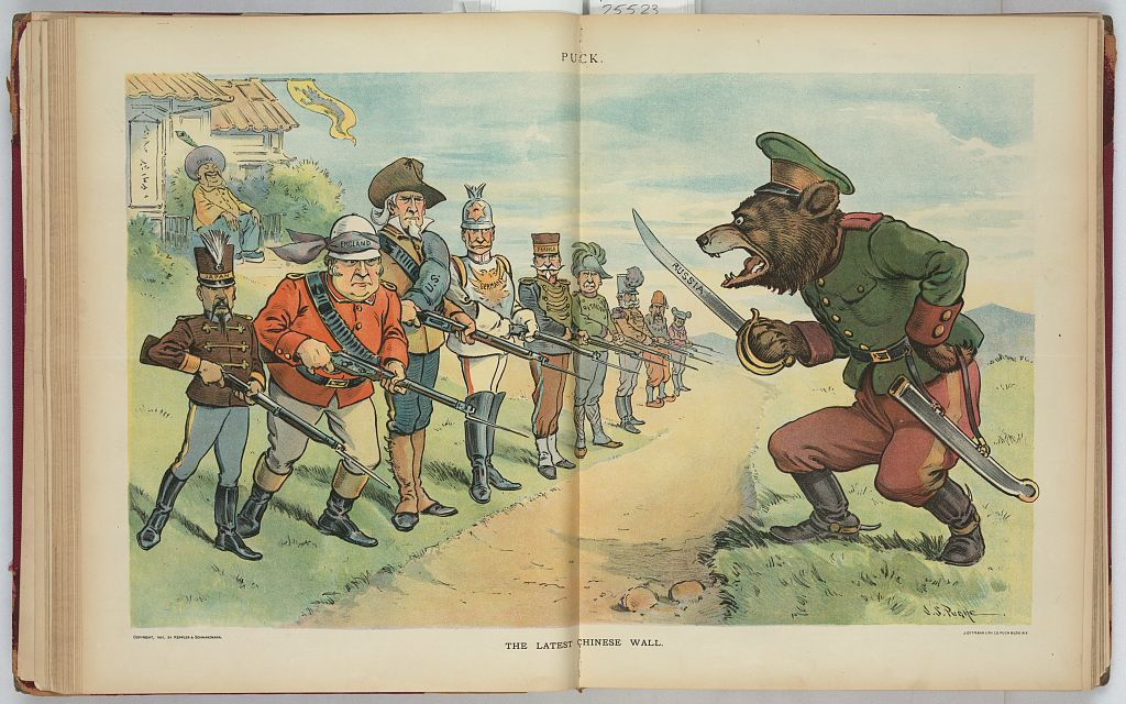 China sits back and laughs as the foreign powers face off after the Boxer Rebellion