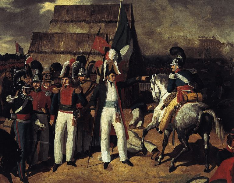 General Antonio Lopez de Santa Anna against General Isidro de Barradas' Spanish troops in 1829