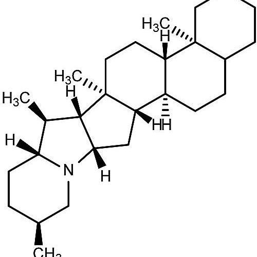 Ésta es la estructura química del solanidano.