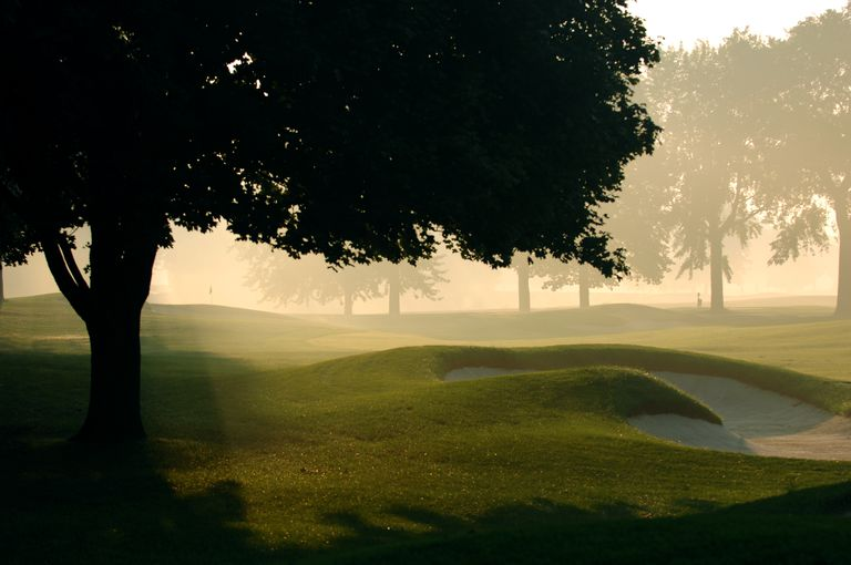 Hole No. 1 at Oakland Hills Country Club in Bloomfield Hills, Michigan