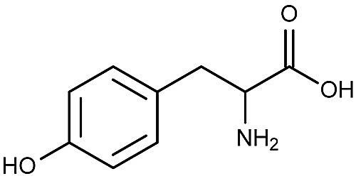 This is the chemical structure of tyrosine.