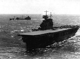 USS Yorktown (CV-5) during World War.