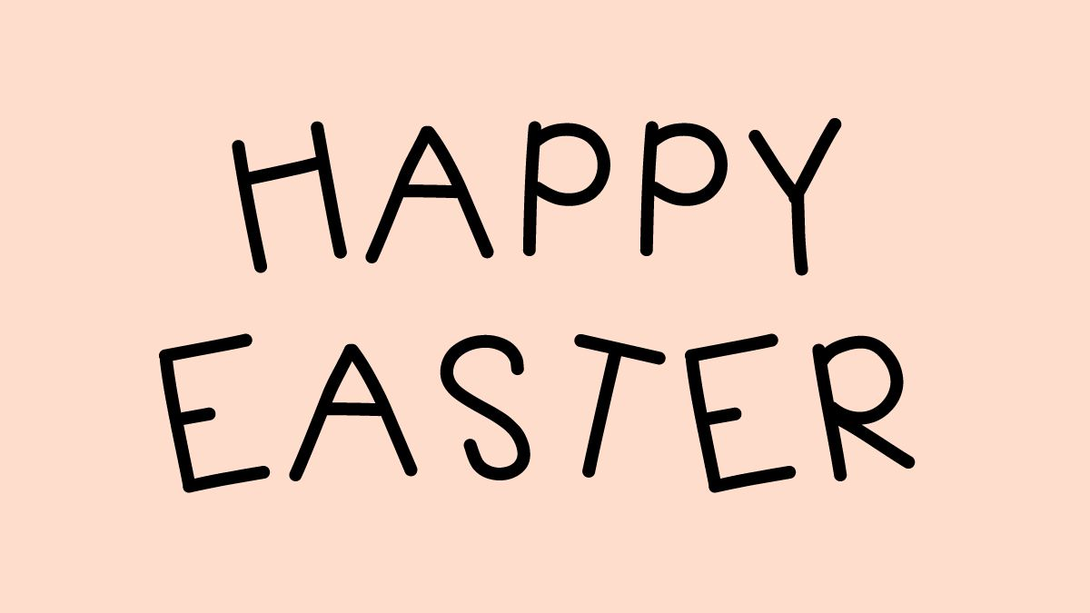 Happy Easter in KB Jellybean font