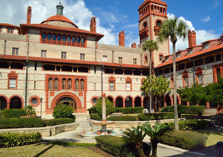 Courtyard of Ponce de Leon Hall at Flagler College