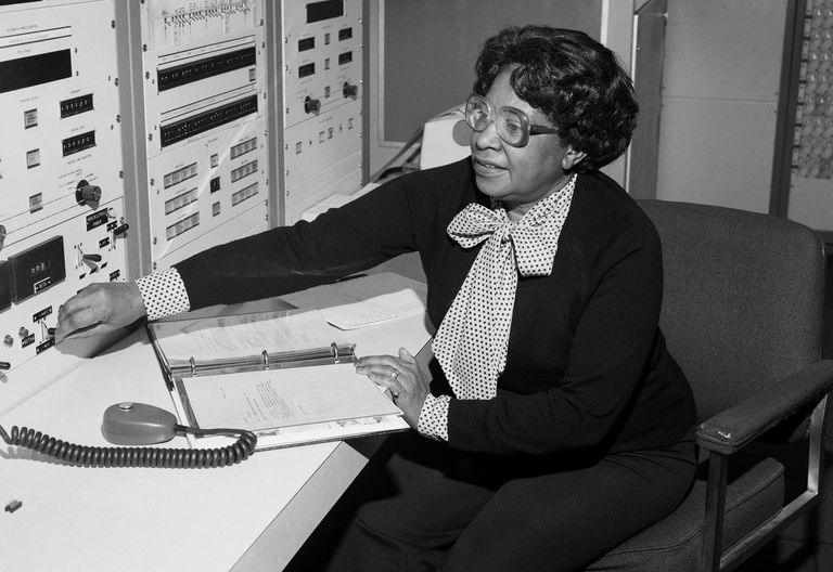 Mary Jackson at work at NASA