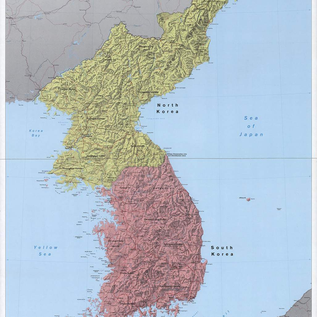 Why Is Korea Split Into North And South Korea - 38th-parallel-us-map