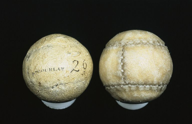 Original feathery golf ball and reproduction