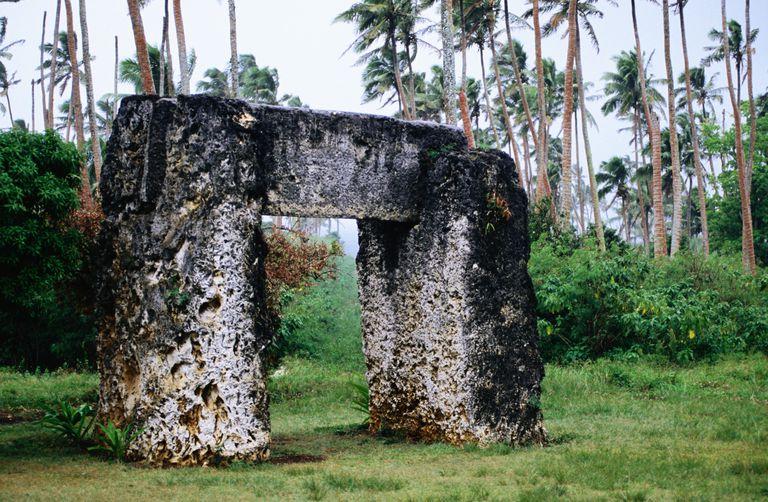 Tongan State Megalithic Monument, the Ha'amonga'a Maui Trilithon, near Niutoua