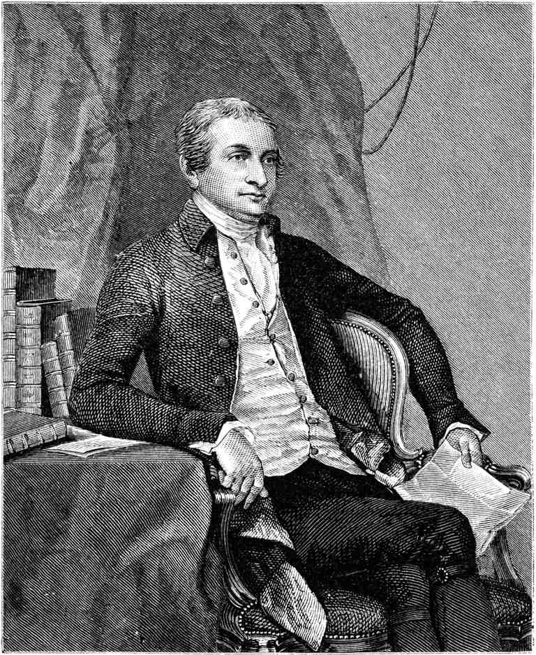 Black and white illustration of John Jay