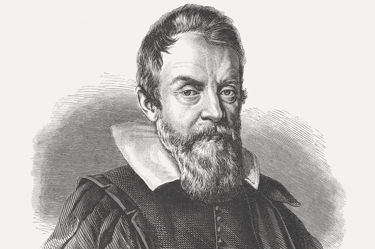 An engraving of Galileo Galilei