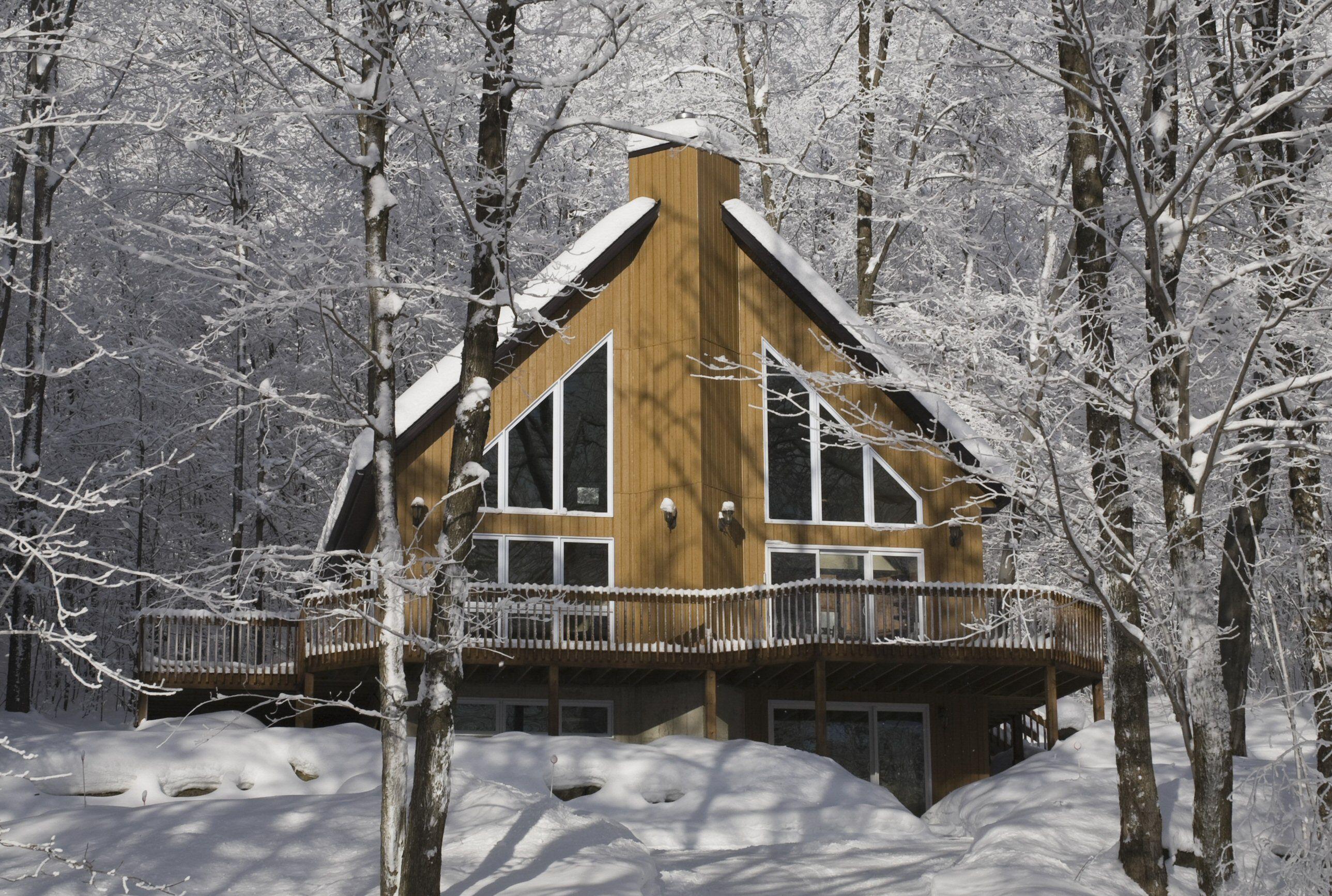 A-Frame maison à Canton de Shefford, Québec, Canada